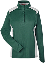Janesville Parker High  School Vikings Team 365 Ladies Heather Performance Lightweight 1/4 Zip