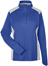 Lewiston Middle School Blue Demons Team 365 Ladies Heather Performance Lightweight 1/4 Zip