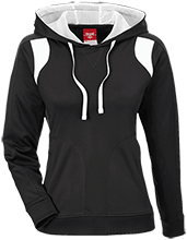 Manchester East Soccer Team 365 Ladies Colorblock Poly Hoodie