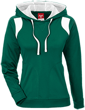 New Castle Chrysler High School Trojans Team 365 Ladies Colorblock Poly Hoodie