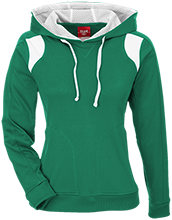 Clinton Street Elementary School Trojan Team 365 Ladies Colorblock Poly Hoodie