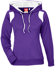 Finley Oates Elementary School Warriors Team 365 Ladies Colorblock Poly Hoodie