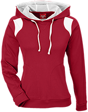 Crandon High School Cardinals Team 365 Ladies Colorblock Poly Hoodie