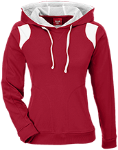 Stewartsville Elementary School Cardinals Team 365 Ladies Colorblock Poly Hoodie