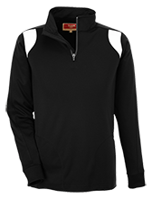 Hampden Academy Broncos Team 365 Performance Colorblock 1/4 Zip