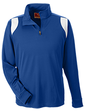 Hopewell Memorial Junior High School Vikings Team 365 Performance Colorblock 1/4 Zip