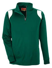 New Hampton School Huskies Team 365 Performance Colorblock 1/4 Zip