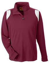 Milwaukie High School Mustangs Team 365 Performance Colorblock 1/4 Zip