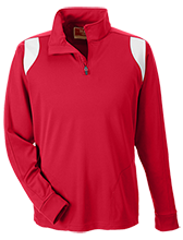 Calvert Hall College High School Cardinals Team 365 Performance Colorblock 1/4 Zip