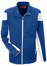 Edwards Middle School Blue Devils Team 365 Performance Colorblock Full Zip