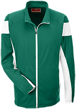Janesville Parker High  School Vikings Team 365 Performance Colorblock Full Zip