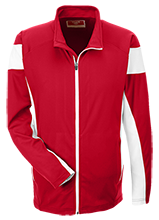 South Portland High School Red Riots Team 365 Performance Colorblock Full Zip
