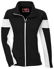 Harrison Elementary School Hawks Team 365 Ladies Performance Colorblock Full Zip