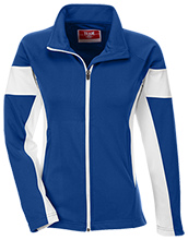 O W Holmes Junior High School Minute Men Team 365 Ladies Performance Colorblock Full Zip