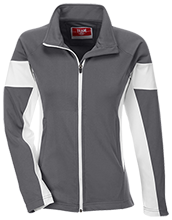 George Junior School Team 365 Ladies Performance Colorblock Full Zip