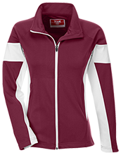 High Island High School Cardinals Team 365 Ladies Performance Colorblock Full Zip