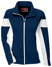 Manhattan Ctr Math & Science Rams Team 365 Ladies Performance Colorblock Full Zip