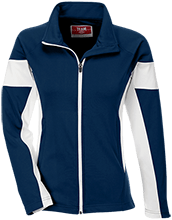 Montpelier Schools Locomotives Team 365 Ladies Performance Colorblock Full Zip
