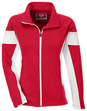 Mauldin Elementary School Dolphins Team 365 Ladies Performance Colorblock Full Zip