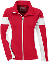 Fairview Elementary School Cardinals Team 365 Ladies Performance Colorblock Full Zip
