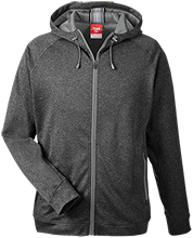 Stewart East Elementary School Ponies Team 365 Men's Heathered Performance Hooded Jacket