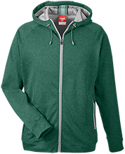 Greenfield High School Green Wave Team 365 Men's Heathered Performance Hooded Jacket