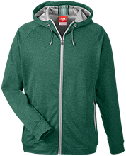 Janesville Parker High  School Vikings Team 365 Men's Heathered Performance Hooded Jacket