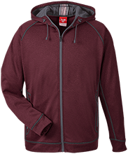 Cimarron Elementary School Bears Team 365 Men's Heathered Performance Hooded Jacket