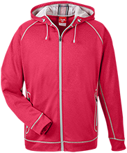 Niskayuna High School Silver Warriors Team 365 Men's Heathered Performance Hooded Jacket