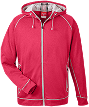 Fort Hill Elementary School Hawks Team 365 Men's Heathered Performance Hooded Jacket
