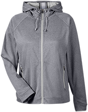 Allendale Columbia Wolves Team 365 Ladies Heather Performance Hooded Jacket
