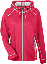 Collegiate School Cardinals Team 365 Ladies Heather Performance Hooded Jacket