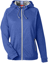 Blue Streaks Blue Streaks Team 365 Ladies Heather Performance Hooded Jacket