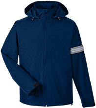 Wells Middle School Roadrunners Team 365 Men's Fleece Lined Windbreaker