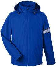 Edwards Middle School Blue Devils Team 365 Men's Fleece Lined Windbreaker