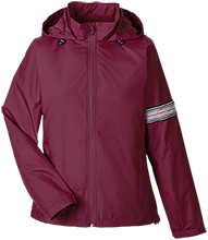 Northbridge Middle School Rams Team 365 Ladies Fleece Lined Windbreaker
