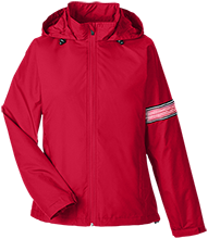 Rieke Elementary School Rockets Team 365 Ladies Fleece Lined Windbreaker