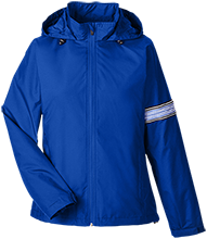 Douglas Middle School Bearcats Team 365 Ladies Fleece Lined Windbreaker