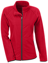 Clemmons Middle School Cardinals Team 365 Ladies Microfleece with Front Polyester Overlay