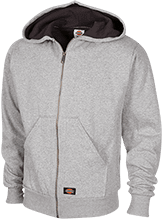 Breast Cancer Embroidered Thermal Fleece Hoodie