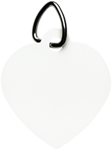 Manchester East Soccer Unisub White Heart Pet Tag