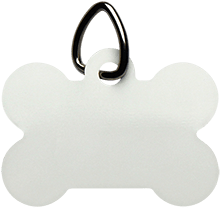The Computer School Terrapins UN5771 Unisub White Dog Bone Pet Tag