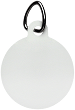Islesboro Eagles Athletics Unisub White Circle Pet Tag