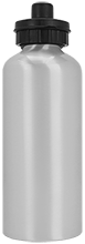 West Side Pirates Athletics Silver Aluminum Water Bottle