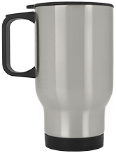 West Side Pirates Athletics Silver Stainless Travel Mug