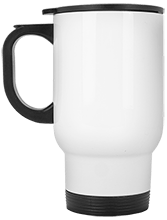 Meskwaki High School Warriors White Stainless Travel Mug