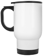West Side Pirates Athletics White Stainless Travel Mug