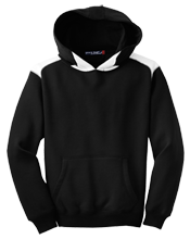 East Stroudsburg Sr High School North Timberwolves Youth Colorblock Hooded Pulovers
