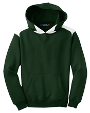 Dover High School Green Wave Youth Colorblock Hooded Pulovers