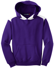Kingsbury Elementary School Knights Youth Colorblock Hooded Pulovers
